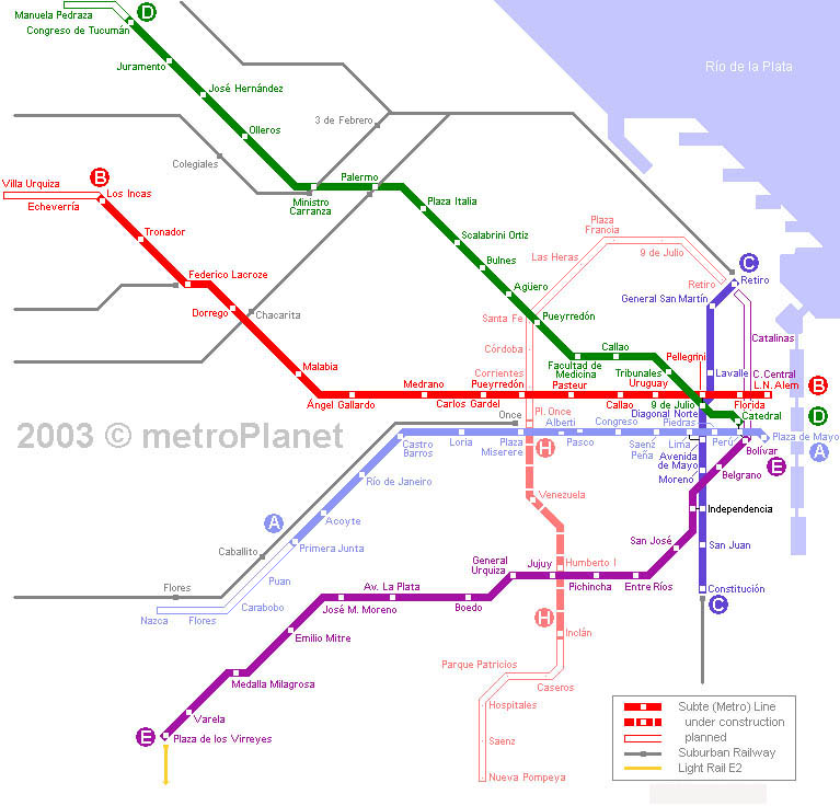 The Subte In Buenos Aires - Argentina subte map